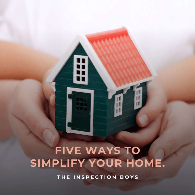 Five ways to simplify your home