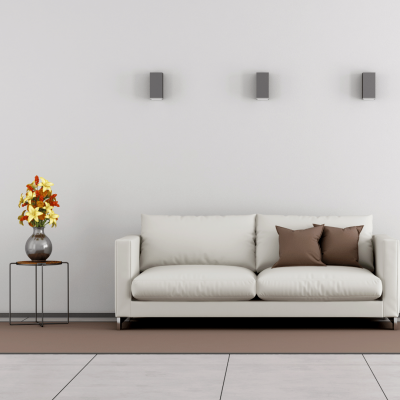 Less is more for an organized living room