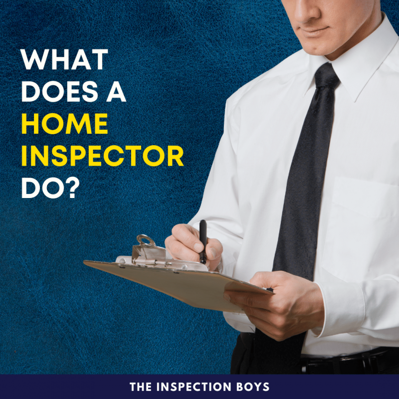 What does a home inspector do?