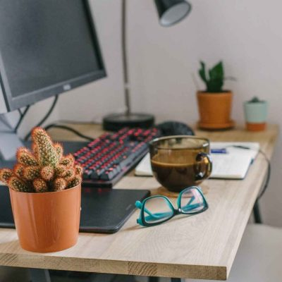 Have a Designated Workspace to Stay Productive.